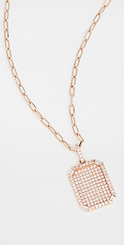 SHAY - Pave ID Pendant Necklace
