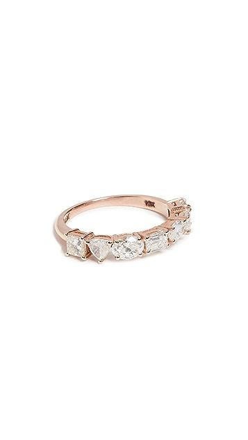 SHAY Half Mixed Diamond Eternity Band Ring