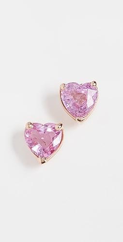 SHAY - 18k Pink Sapphire Heart Studs