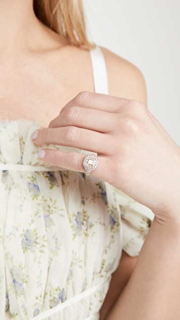 SHAY 18k Essential Pave Pinky Ring
