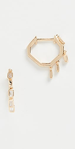 SHAY - 18k Mini Baguette Drop Huggies Earrings