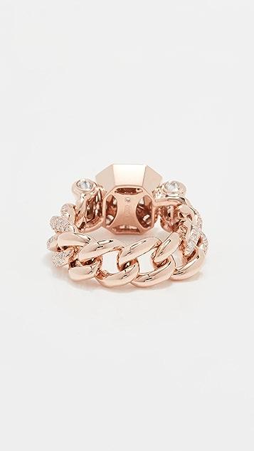 SHAY 18k Diamond Halo Link Ring