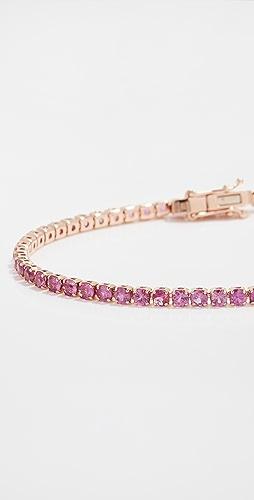 SHAY - 18k Mini Pink Sapphire Tennis Bracelet
