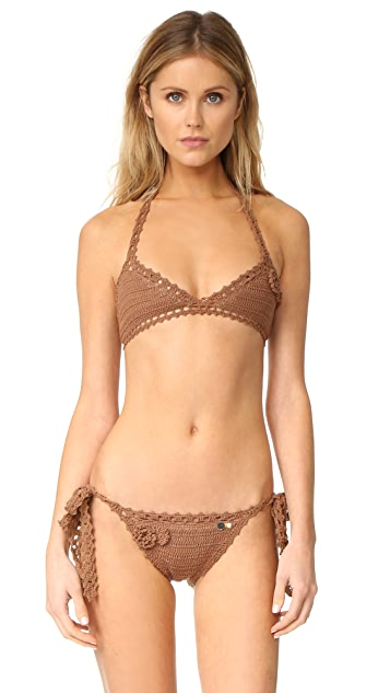 She Made Me Jannah Triangle Crochet Bikini Top