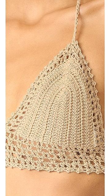 She Made Me Crochet Bralette Bikini Top