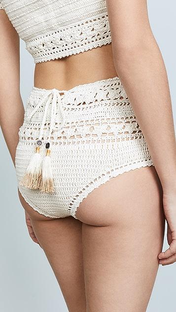 She Made Me Rose Crochet Bikini Bottoms