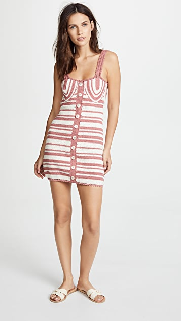 She Made Me Daisy Crochet Balconette Mini Dress