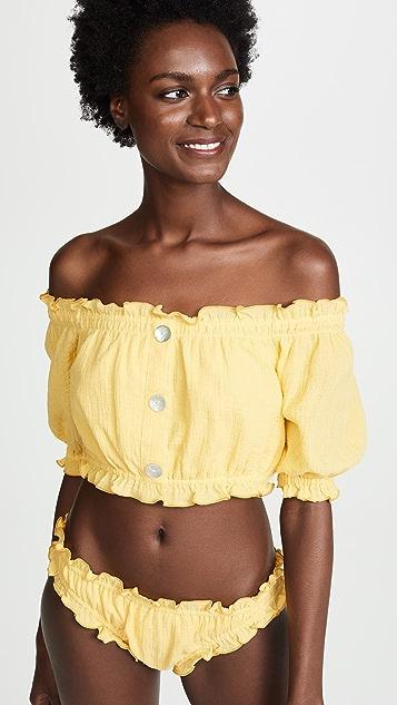 She Made Me Kali Cheeky Sunsuit Bikini Bottoms