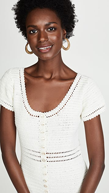 She Made Me Sita Button Mini Dress