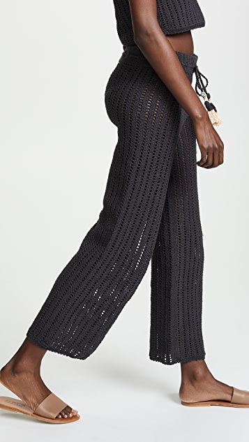 She Made Me Sita Cotton Crochet Pants