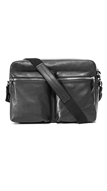Shinola Zip Top Messenger Bag