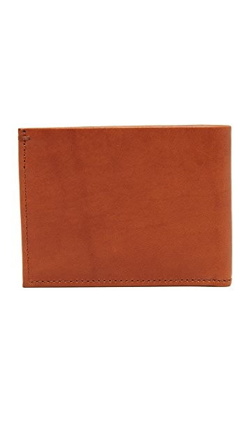 Shinola Slim Bifold Wallet