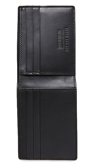 Shinola Embossed Slim Bifold Wallet
