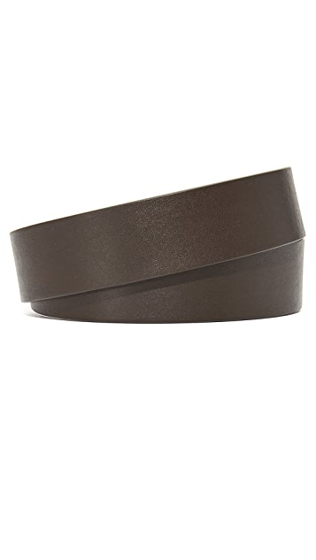 Shinola Lightning Bolt Keeper Belt