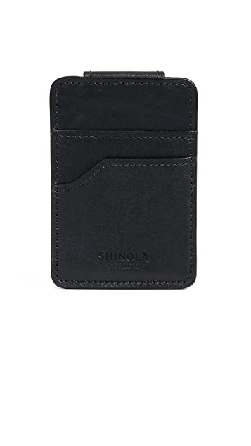 Shinola Magnetic Money Clip Card Wallet