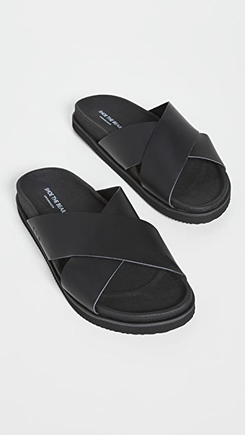 Shoe The Bear Luma Leather Cross Sandals