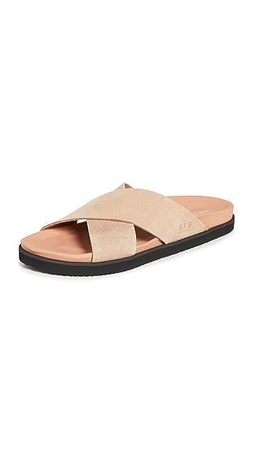 Shoe The Bear Luma Suede Cross Sandals
