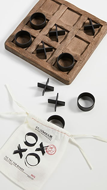 Shopbop @Home Wooden Tic Tac Toe Game