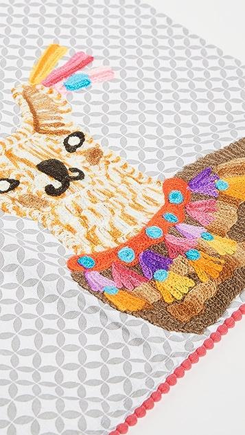 Shopbop @Home 牧场中的美洲驼茶巾