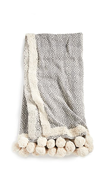 Shopbop @Home Eccentric Pom Pom Throw Blanket