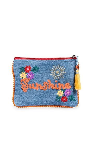 Shopbop @Home Denim Sunshine Pouch