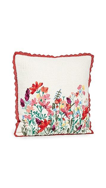 Shopbop @Home Karma Living Wilderness 蕾丝花卉坐垫