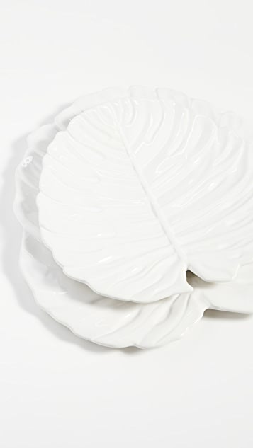 Shopbop @Home Monstera Leaf Plates