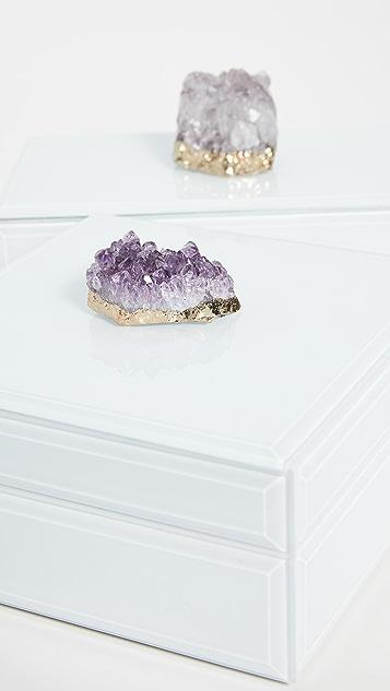 Shopbop @Home Amethyst Geode Hinged Box