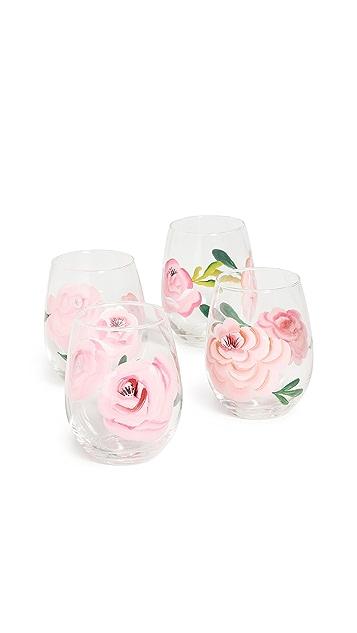 Shopbop @Home Set of 4 Rose Wine Glasses