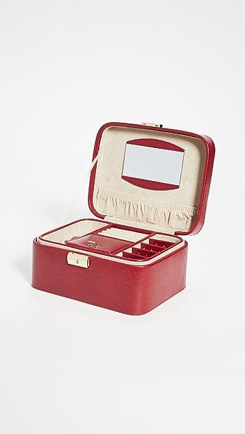 Shopbop @Home Lizard Embossed Jewelry Travel Box
