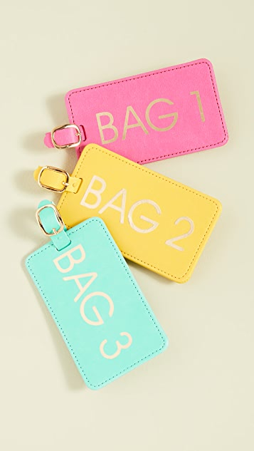 Shopbop @Home Bags 1,2,3 Luggage Tag Box Set