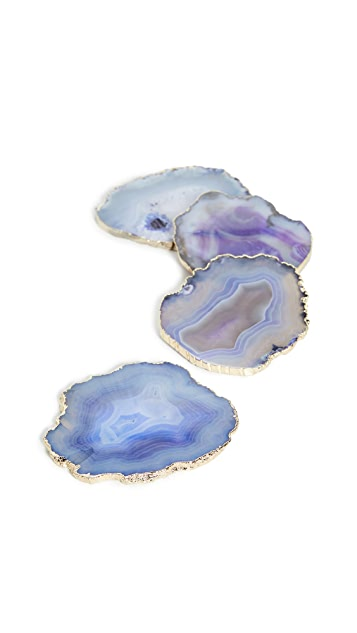 Shopbop @Home Set of 4 Agate Coasters