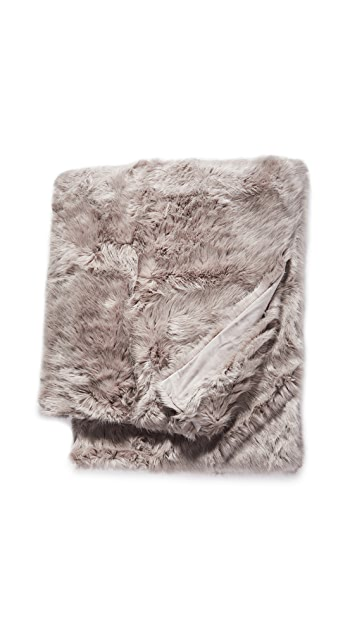 Shopbop @Home Apres Mink Throw Blanket