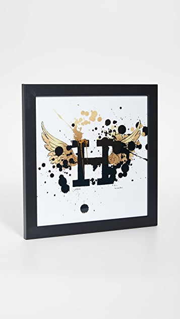 Shopbop @Home Hermes Wing Spatter Paint Print