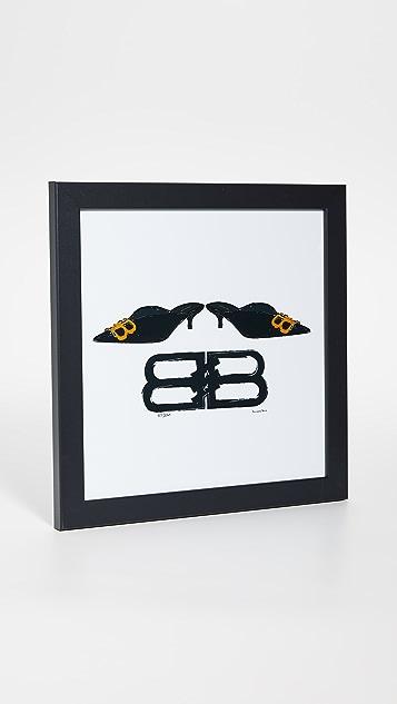 Shopbop @Home Balenciaga 巴黎世家鞋子印花