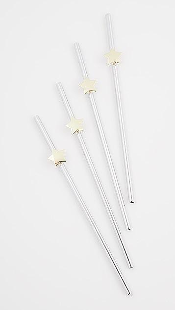 Shopbop @Home 一套 4 个星星吸管