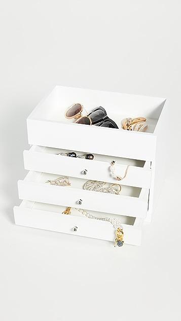 Shopbop @Home Шкатулка для украшений с открытым верхом и четырьмя ярусами