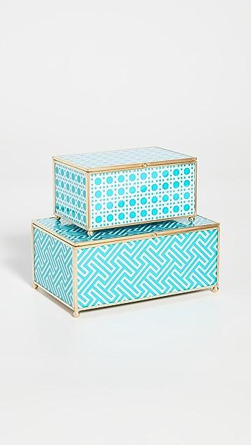Shopbop @Home Chinoiserie 2 件装玻璃箱