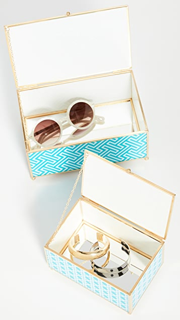 Shopbop @Home Chinoiserie Set of 2 Glass Box