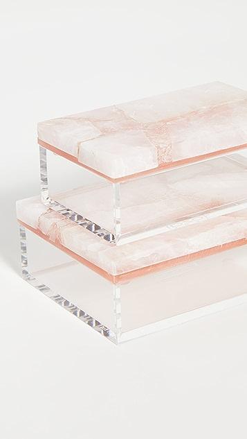 Shopbop @Home 粉色石英盒子 2 件装
