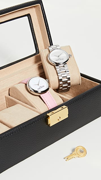 Shopbop @Home Genuine Leather 4 Watch Case