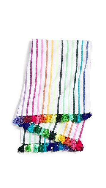 Shopbop @Home Multicolor Stripes & Tassels Throw