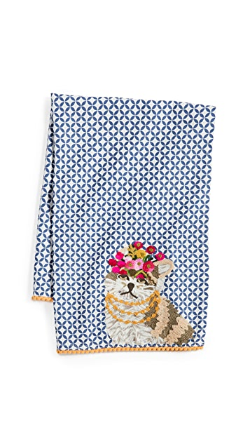 Shopbop @Home Princess Cat Tea Towel