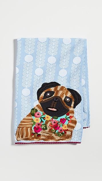 Shopbop @Home Pug Tea Towel