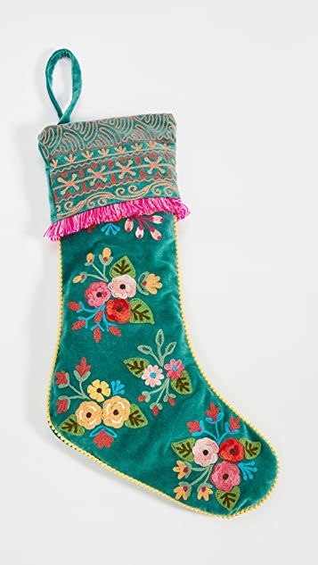 Shopbop @Home Floral Stocking