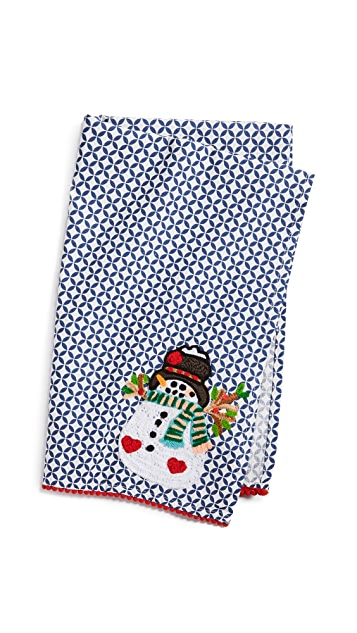 Shopbop @Home Happy Happy Snowman Tea Towel