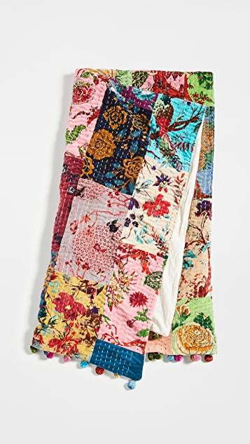 Shopbop @Home Whimsical Kantha Cotton Throw