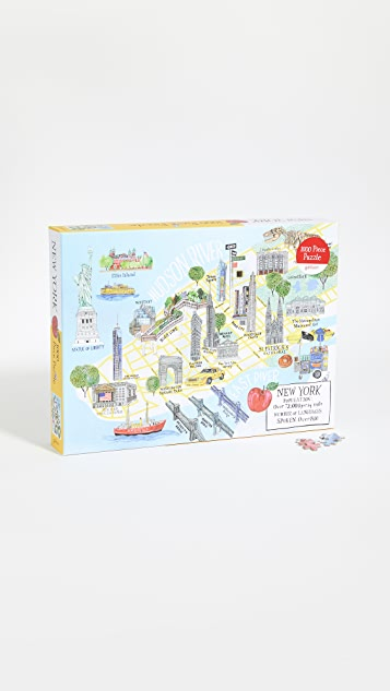 Shopbop @Home New York City Map 1000 Piece Puzzle