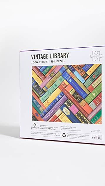 Shopbop @Home Vintage Library 1000 片拼图锡箔压花