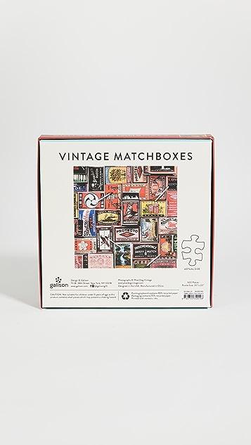 Shopbop @Home Vintage Matchboxes 500 Piece Puzzle